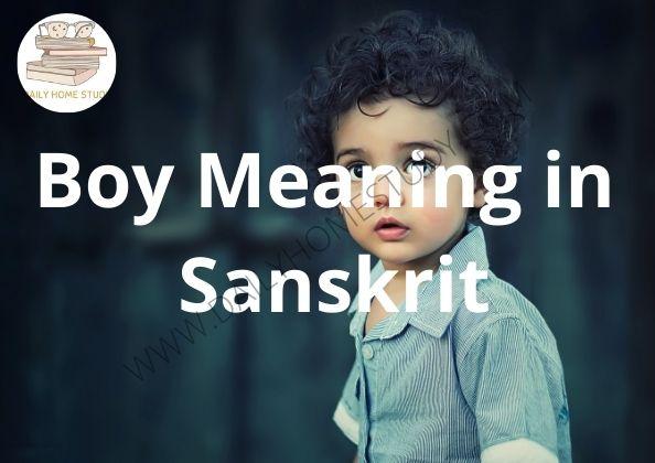 Boy Meaning in Sanskrit | DailyHomeStudy