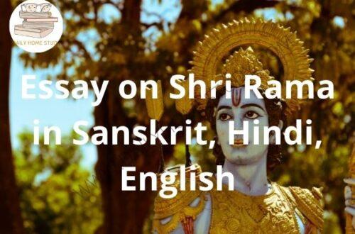 Essay on Shri Rama in Sanskrit, Hindi, English | DailyHomeStudy