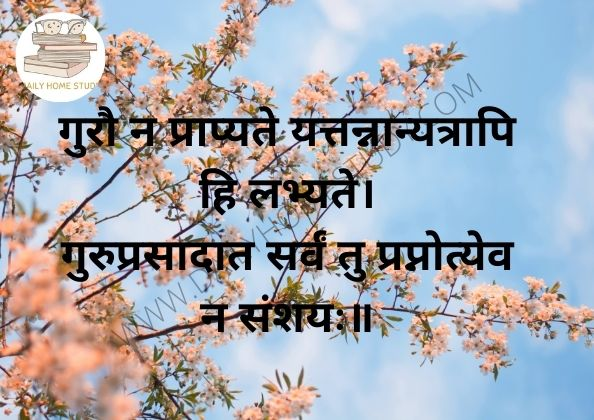 Gurau na Prapyate Sloka Meaning in Hindi, English | DailyHomeStudy