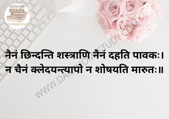 Nainam Chindanti Shastrani Shlok Meaning in Hindi & English | DailyHomeStudy
