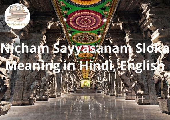 Nicham Sayyasanam Sloka Meaning in Hindi, English | DailyHomeStudy