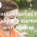 Sanskrit Names For Baby Boy starting with A letter