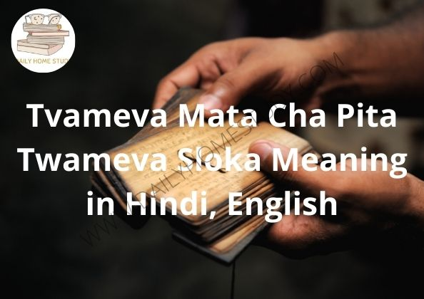 Tvameva Mata Cha Pita Twameva Sloka Meaning in Hindi, English | DailyHomeStudy